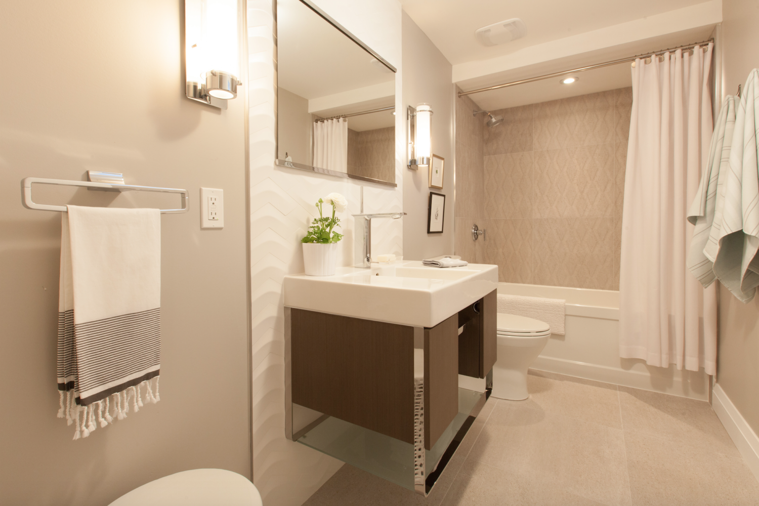 recent work for plumbing in newcastle - image is of a new bathroom suite fitted